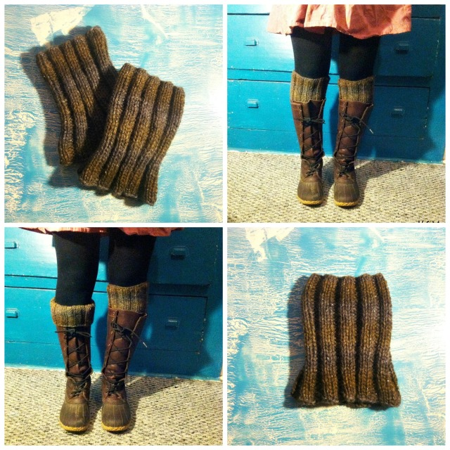FREE PATTERN Simple Ribbed Boot Cuff Liners